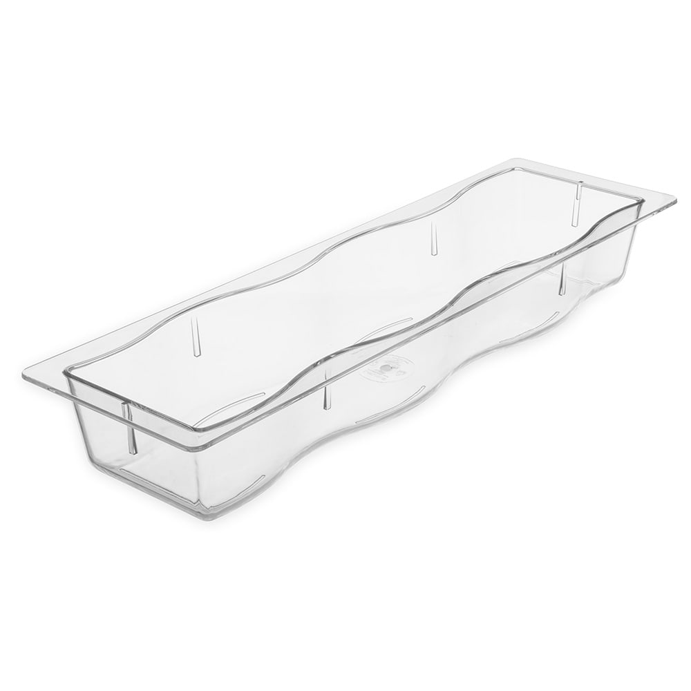Carlisle 699007 Half Size Long Food Pan - Polycarbonate, Clear