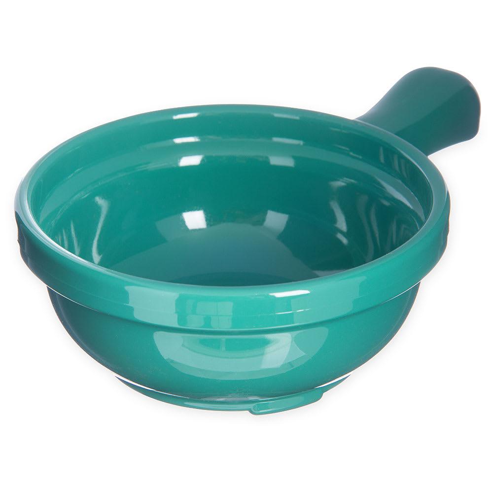"Carlisle 700609 4.625"" Round Handled Soup Bowl w/ 8 oz Capacity, Plastic, Meadow Green"