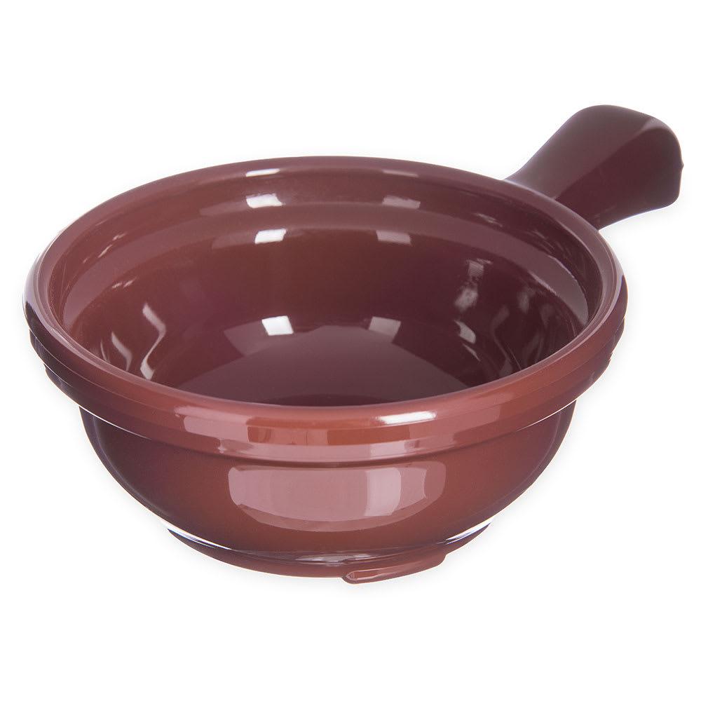 "Carlisle 700628 4.625"" Round Handled Soup Bowl w/ 8-oz Capacity, Plastic, Lennox Brown"