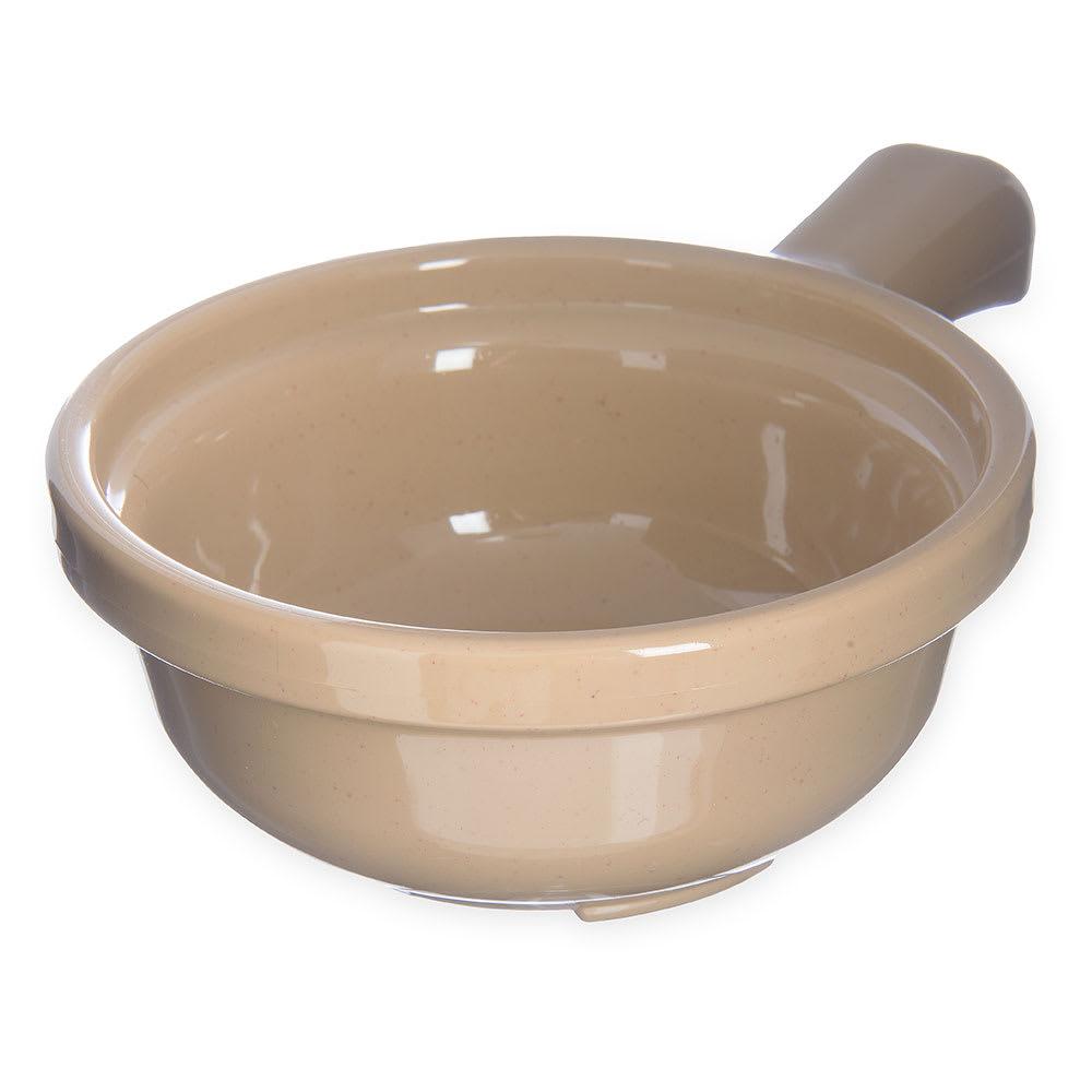 """Carlisle 700819 5.25"""" Round Handled Soup Bowl w/ 12-oz Capacity, Plastic, Stone"""