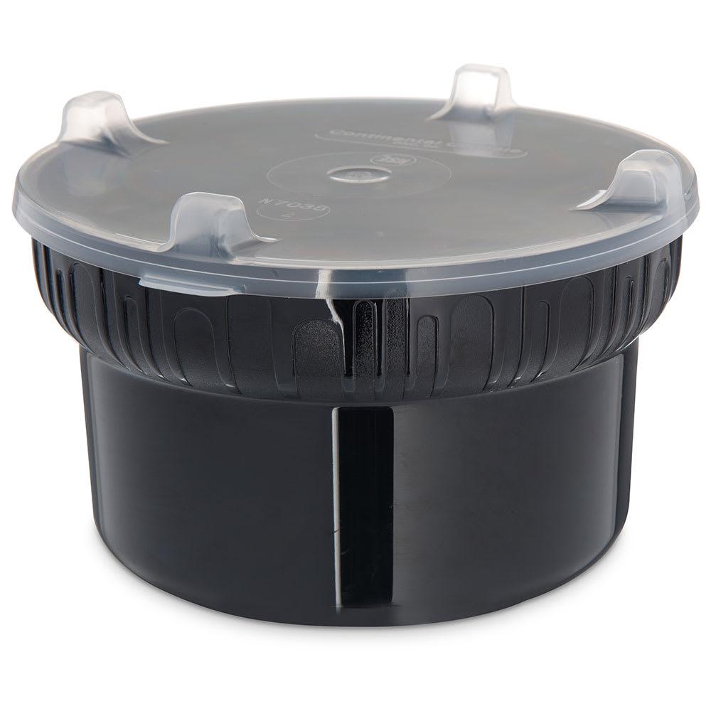 Carlisle 703903 1.9-qt Crock w/ Lid, Polycarbonate, Black