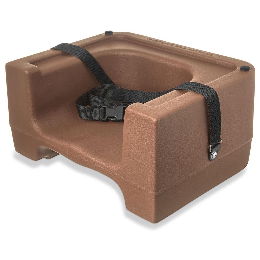 Carlisle 7111-406 Dual-Height Booster Seat w/ Safety Strap - Polyethylene, Beige