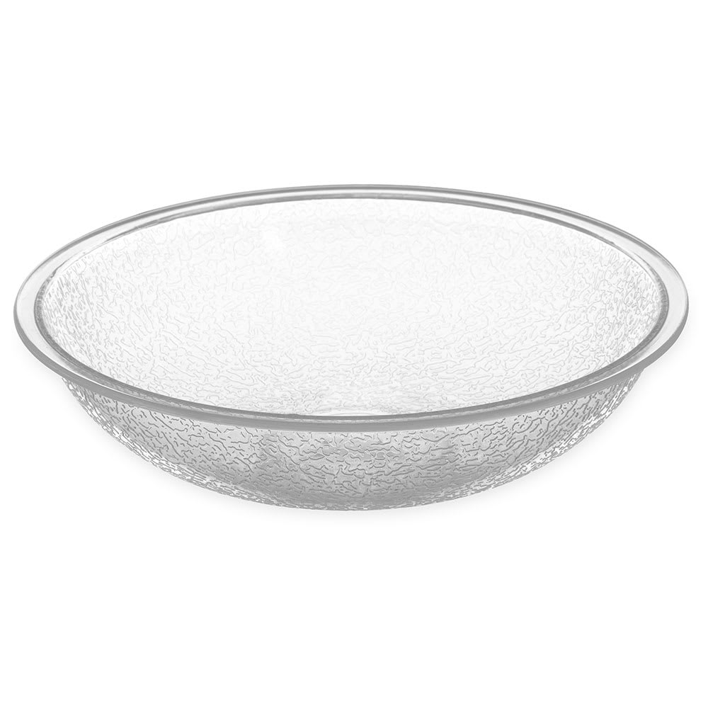 "Carlisle 720607 6"" Round Salad Bowl w/ .6 qt Capacity, Polycarbonate, Clear"