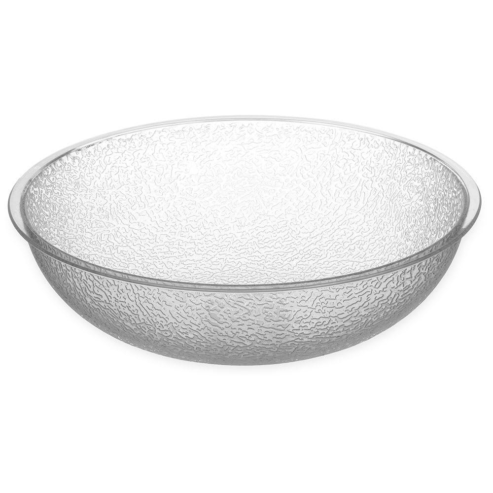 "Carlisle 721007 10"" Round Salad Bowl w/ 3-qt Capacity, Polycarbonate, Clear"