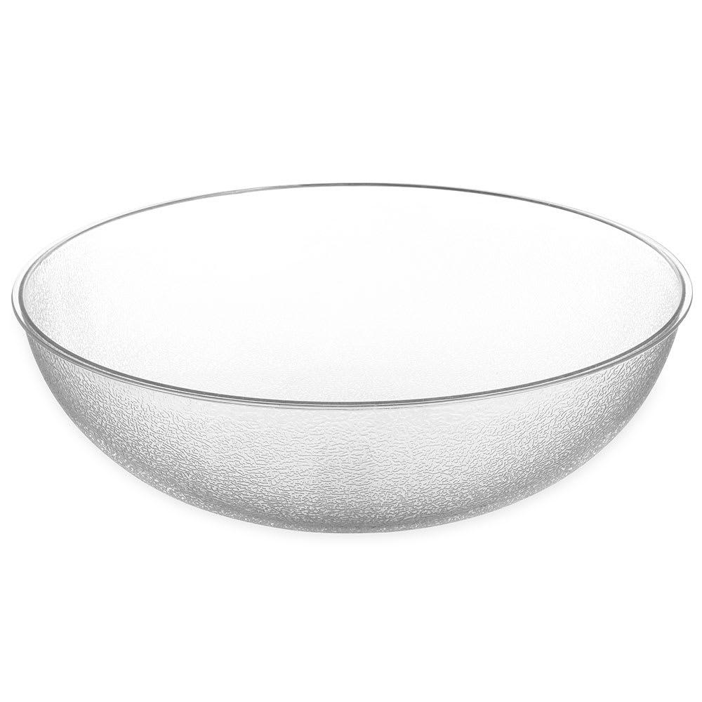 "Carlisle 722307 23"" Round Salad Bowl w/ 33-qt Capacity, Polycarbonate, Clear"