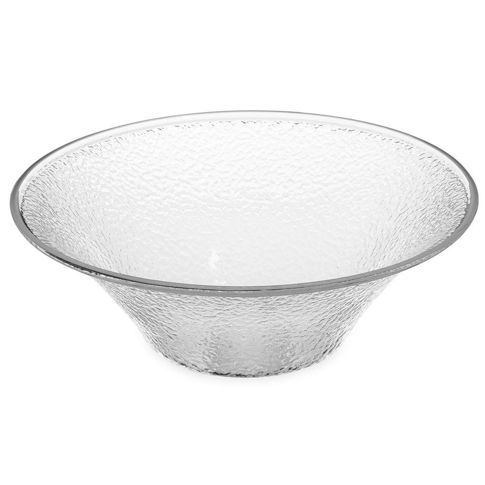 """Carlisle 732507 11.25"""" Round Bell Bowl w/ 3.3-qt Capacity, Polycarbonate, Clear"""