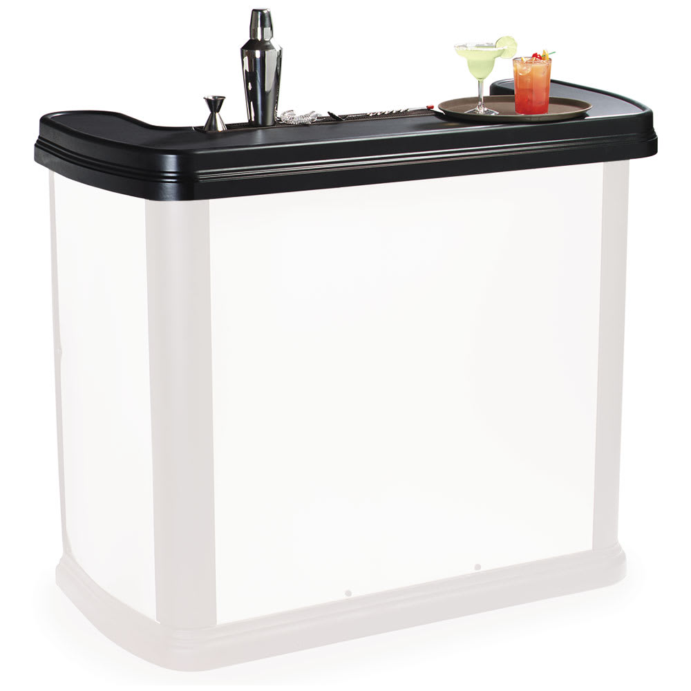 Carlisle 754703 Portable Bar Replacement Top for Maximizer Portable Bar, Black