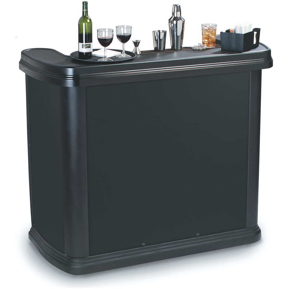 "Carlisle 755003 56"" Maximizer Portable Bar - 15-gal Ice Bin, Polyethylene, Black"