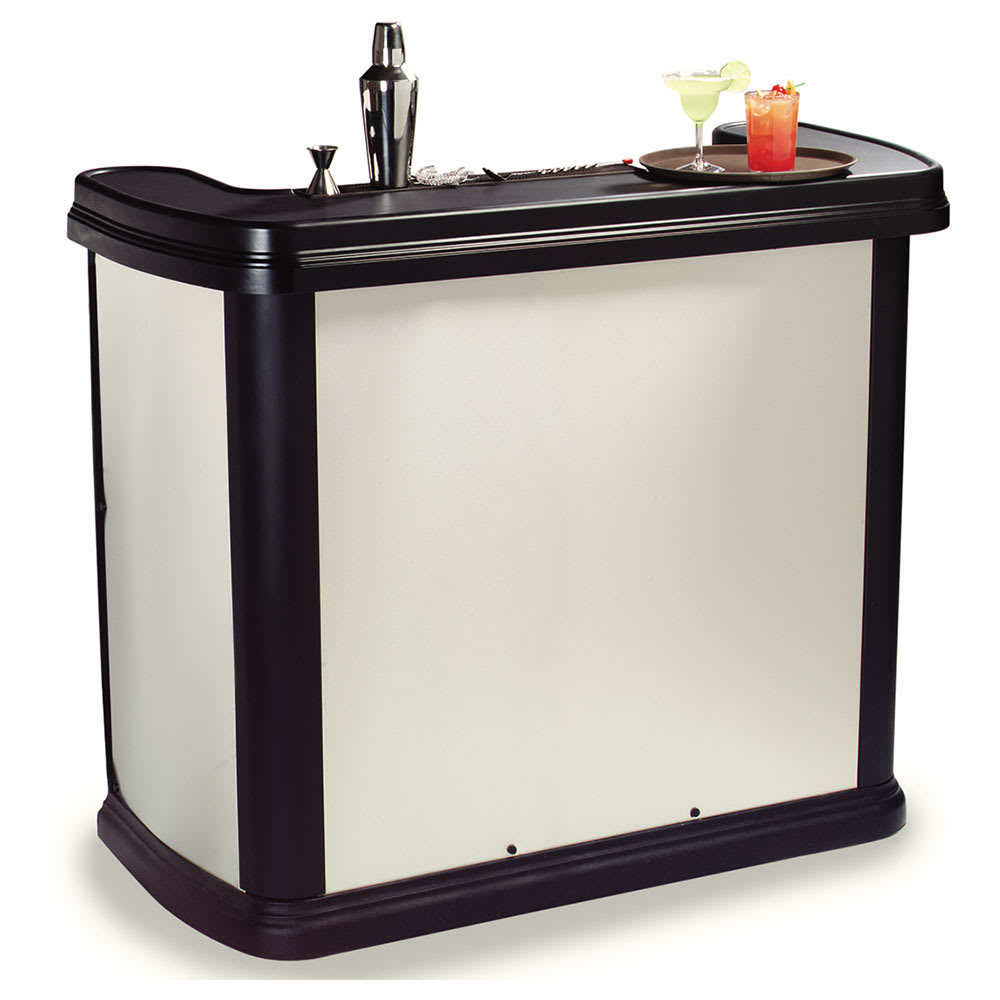 "Carlisle 755044 56"" Portable Bar - 15 gal Ice Bin, Polyethylene, Stainless"