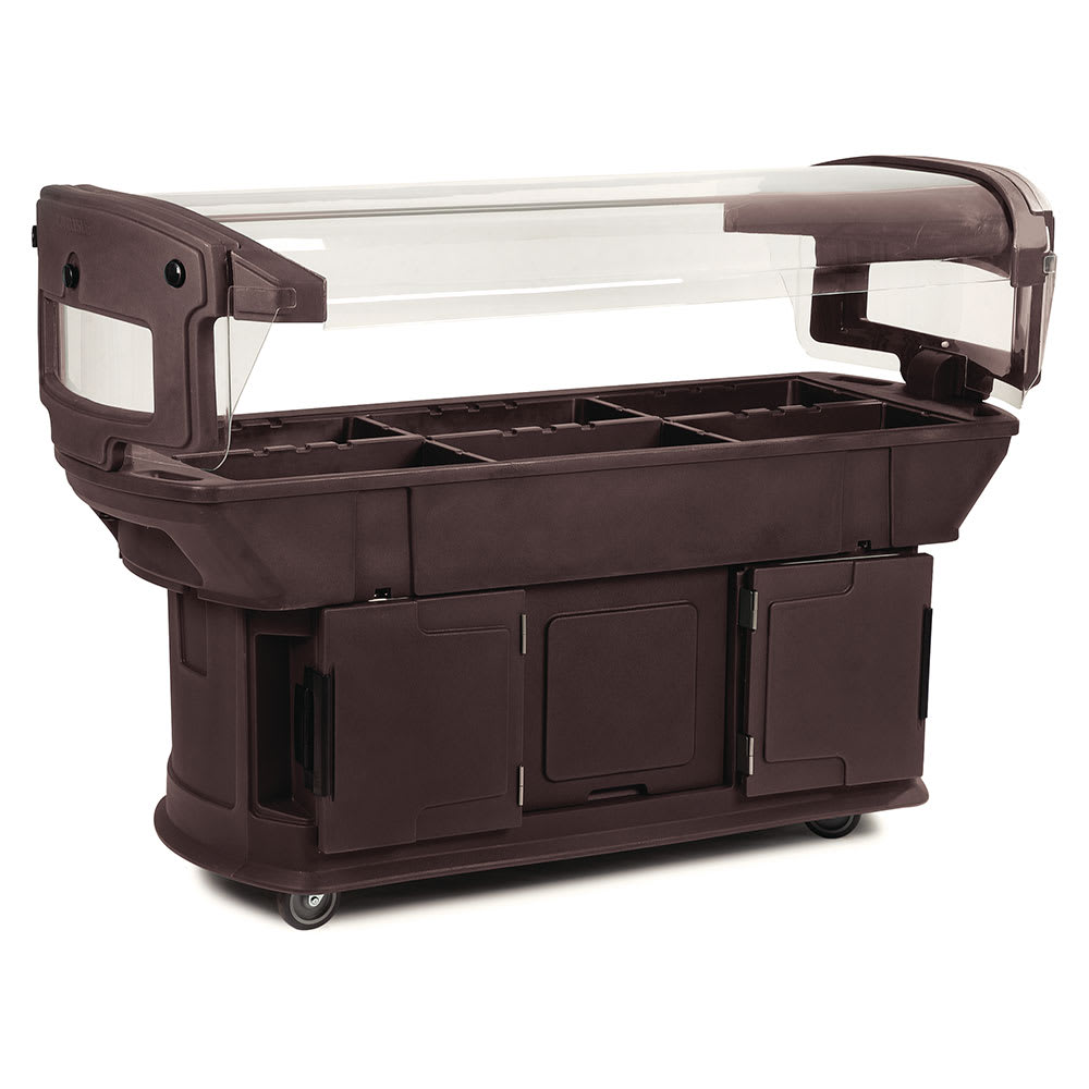 "Carlisle 771101 93"" Cold Food Bar w/ (6) Full-Size Pan Capacity, Polyethylene, Brown"