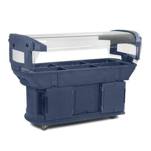 "Carlisle 771159 93"" Cold Food Bar w/ (6) Full-Size Pan Capacity, Polyethylene, Slate"