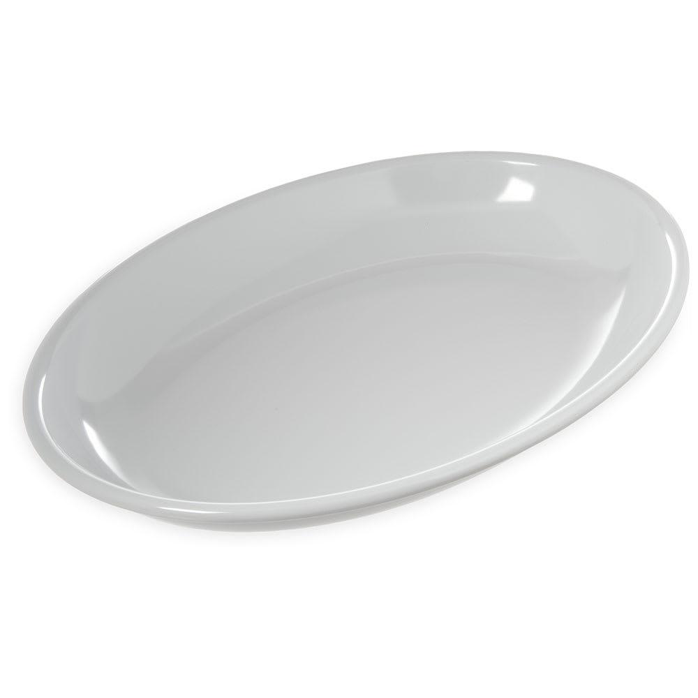 """Carlisle 791602 Oval Platter - 16"""" x 12"""", Melamine, White"""