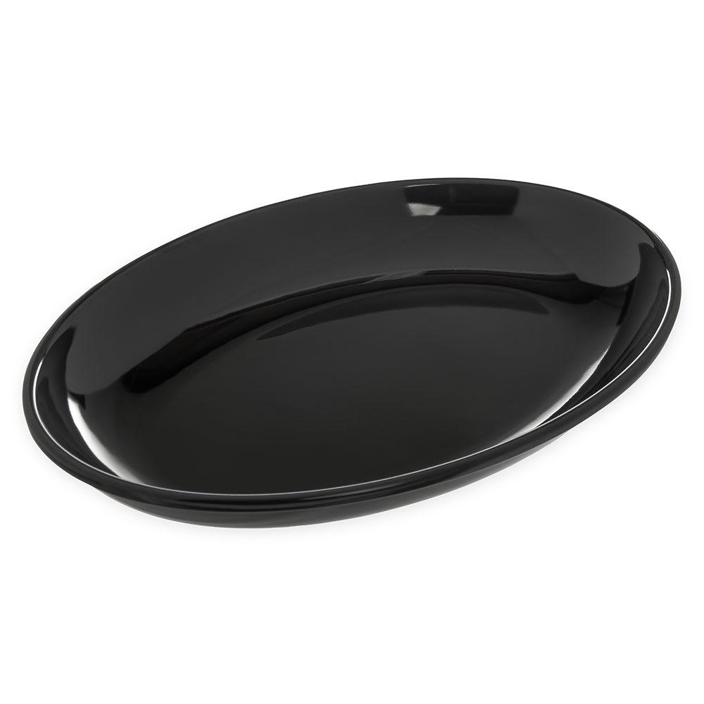 "Carlisle 791603 Oval Platter - 16"" x 12"", Melamine, Black"