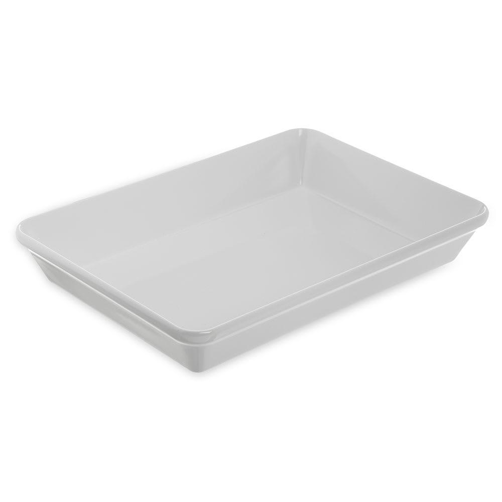 Carlisle 792002 4 qt Rectangular Melamine Baking Dish, White