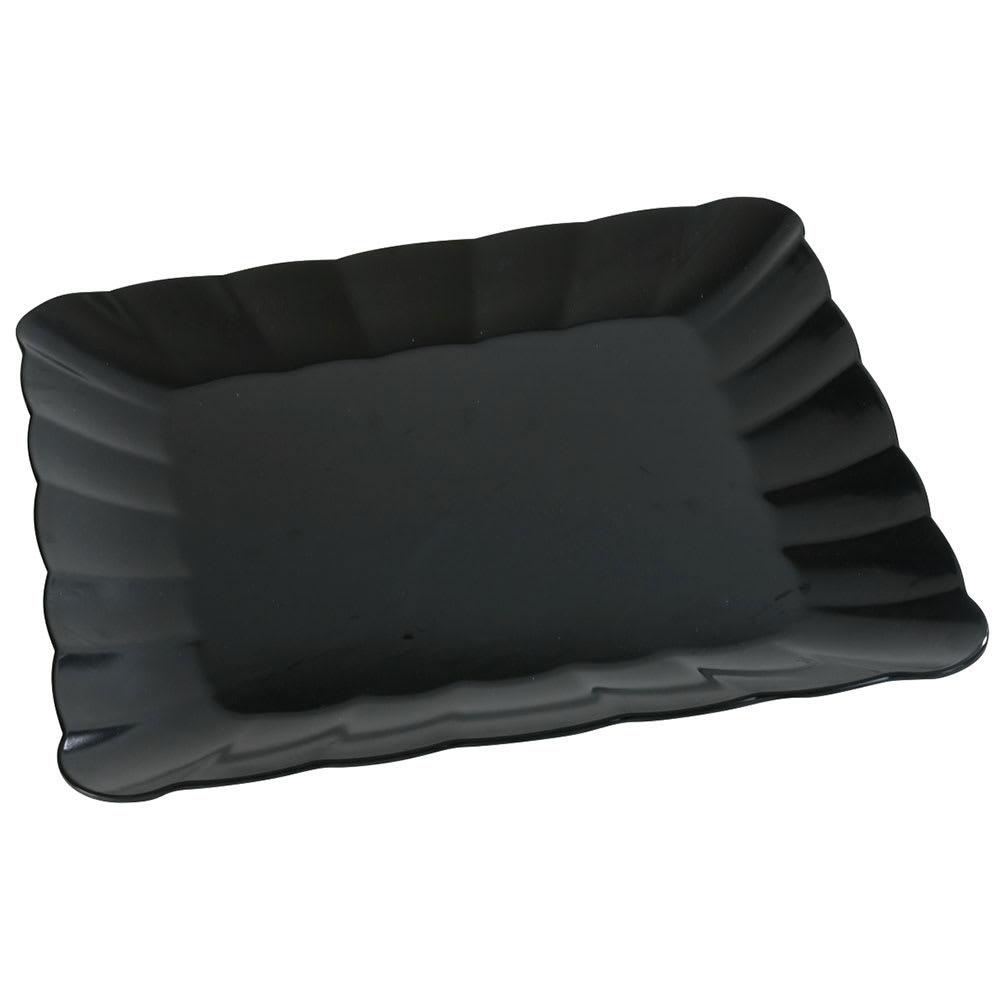 """Carlisle 792803 18.75"""" Square Platter - Melamine, Black"""