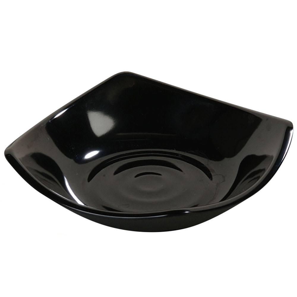 "Carlisle 794203 5.25"" Square Side Dish w/ 5-oz Capacity, Melamine, Black"