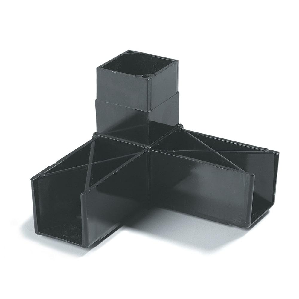 "Carlisle 900303 Sneeze Guard Assembly Block - 1 1/4"" Square, 90 Angle, Black"