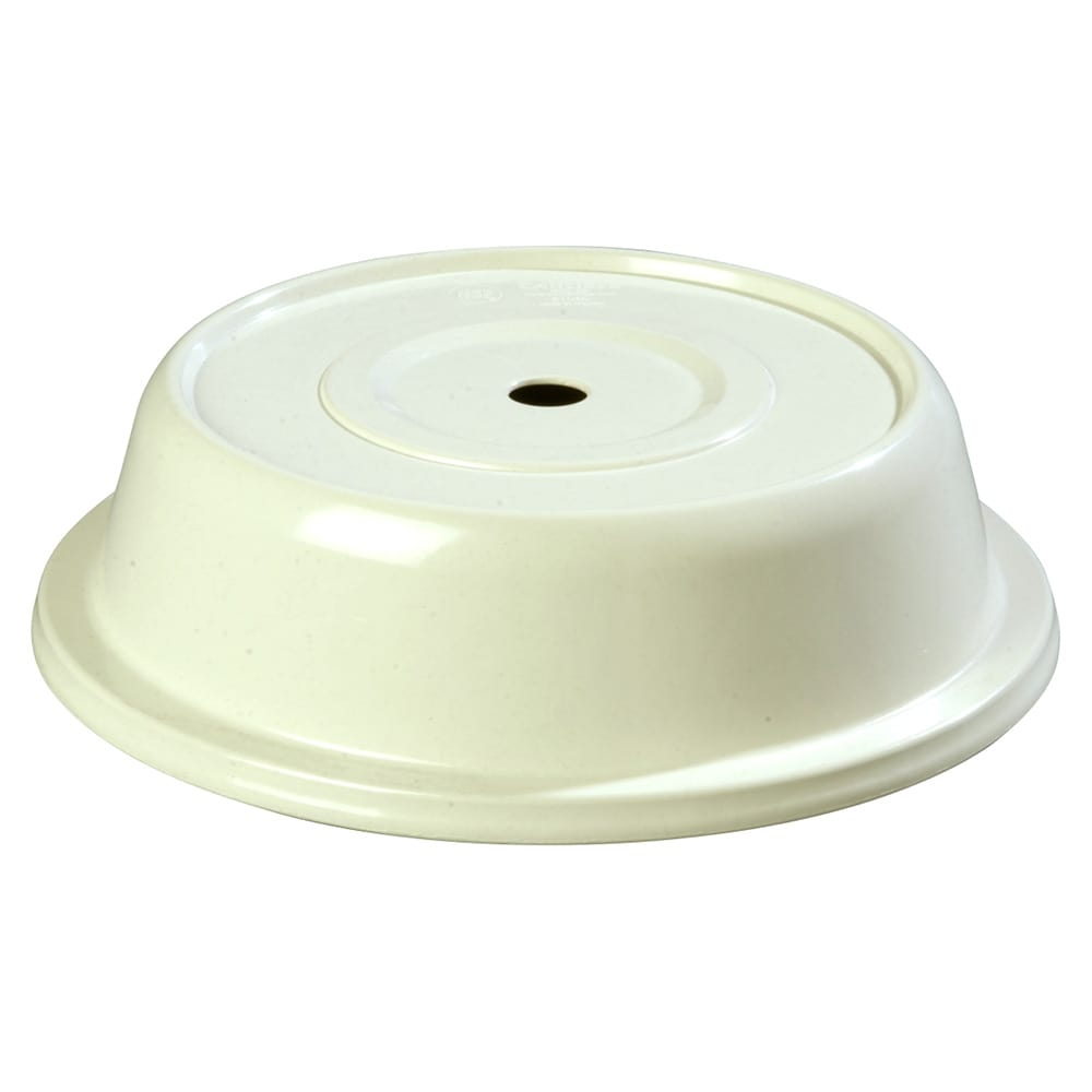 "Carlisle 91065202 10-1/8"" to 10-3/8"" Plate Cover - Polyglass, Bone"