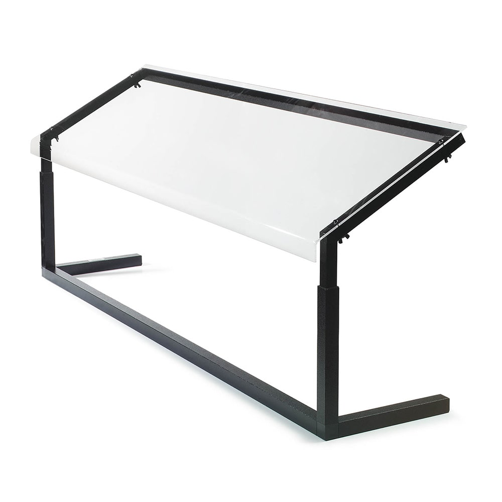 "Carlisle 924803 48"" 1 Sided Sneeze Guard, Portable, Black Frame, Clear Acrylic"