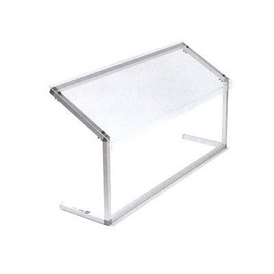 "Carlisle 924807 48"" Portable Sneeze Guard - Free-Standing, Adjustable, Acrylic/Aluminum, Clear"