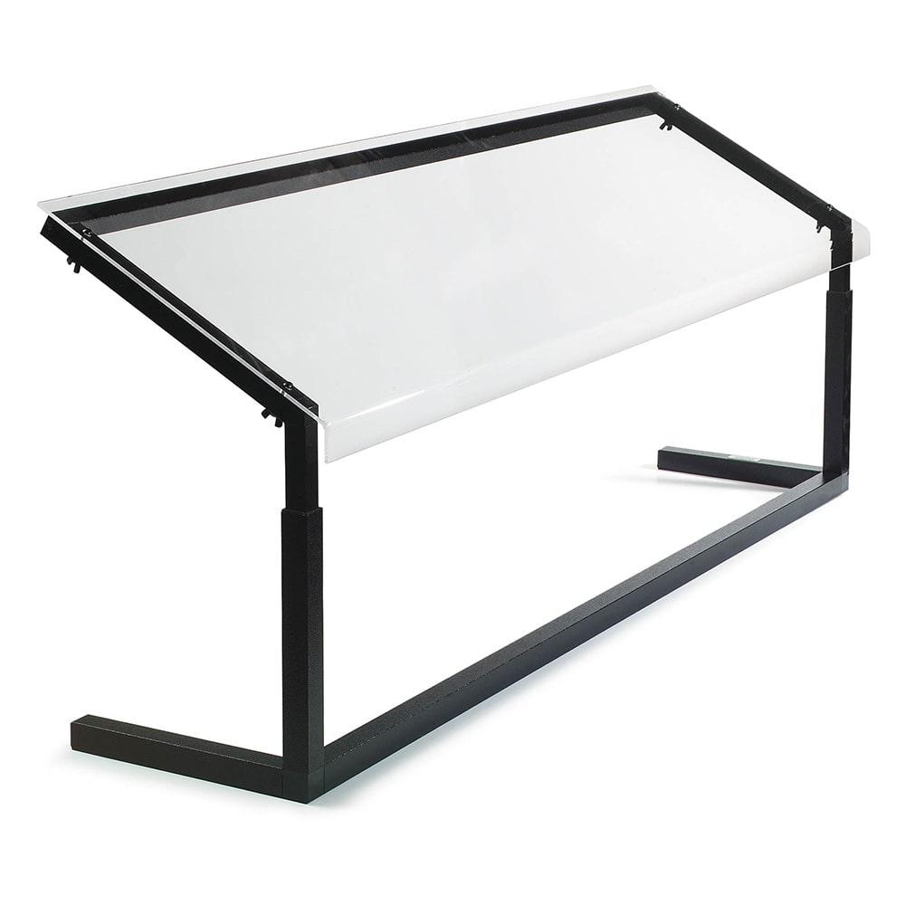 "Carlisle 926003 60"" Portable Sneeze Guard - Free-Standing, Acrylic/Aluminum, Black"