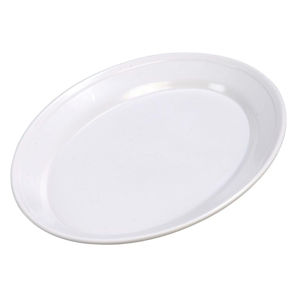 """Carlisle ARR12002 Oval Platter - 12"""" x 8.5"""", Melamine, White"""