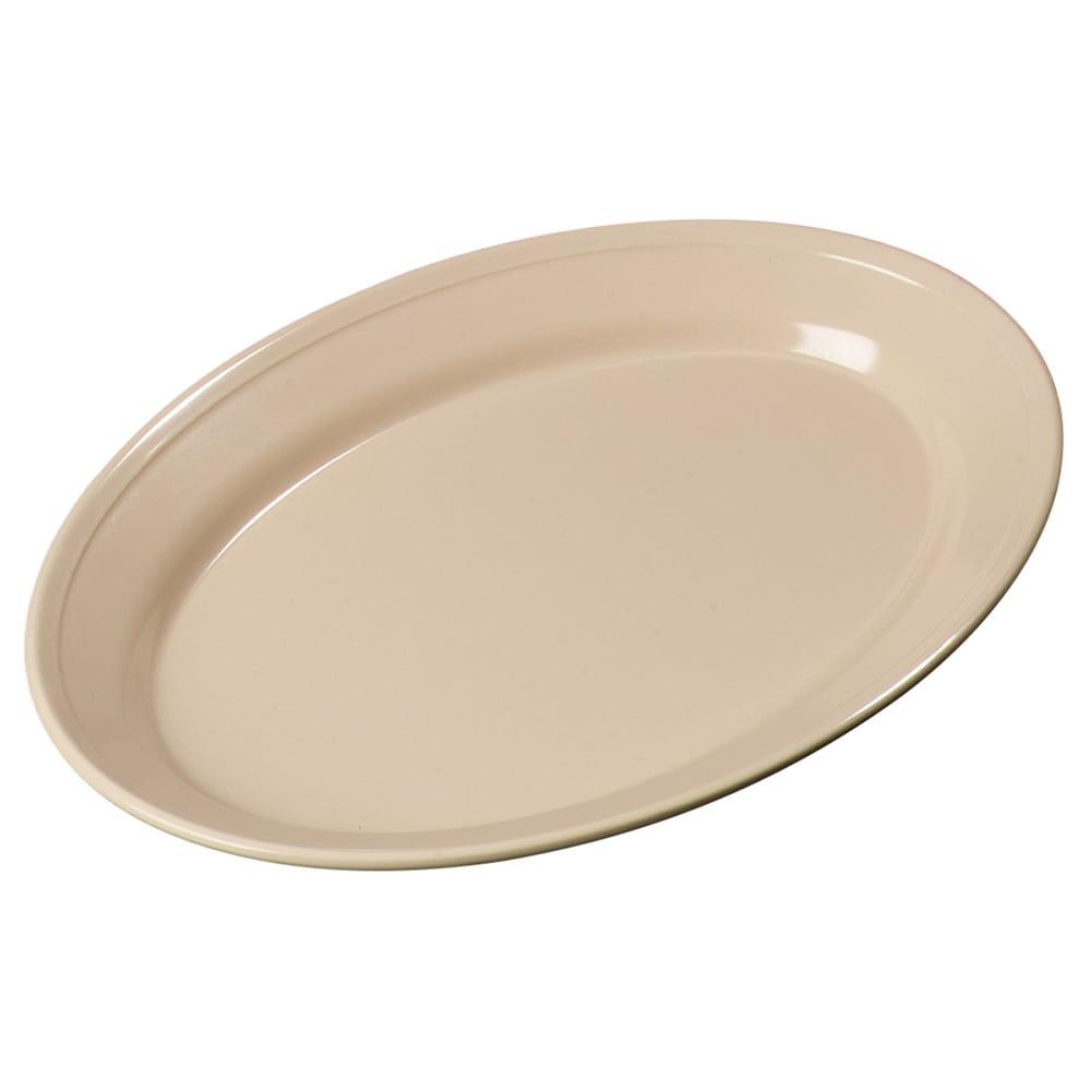 "Carlisle ARR12025 Oval Platter - 12"" x 8.5"", Melamine, Tan"