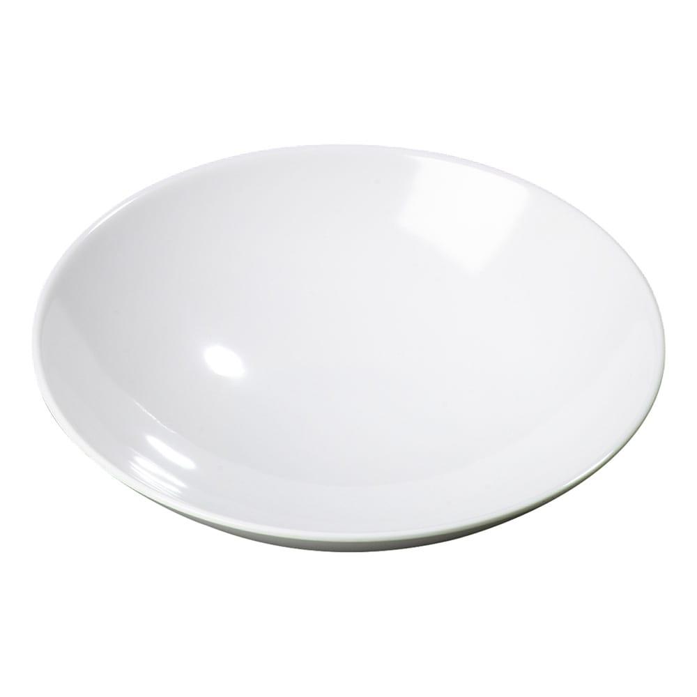 "Carlisle ARR24002 9"" Round Vegetable Bowl w/ 46-oz Capacity, Melamine, White"