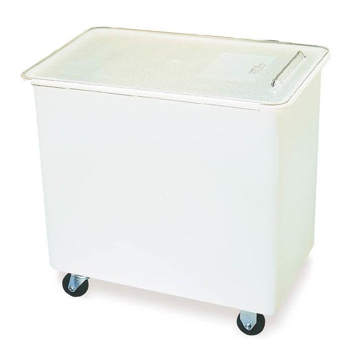 Carlisle BIN2702 27 gal Mobile Ingredient Bin - Polyethylene, Clear/White