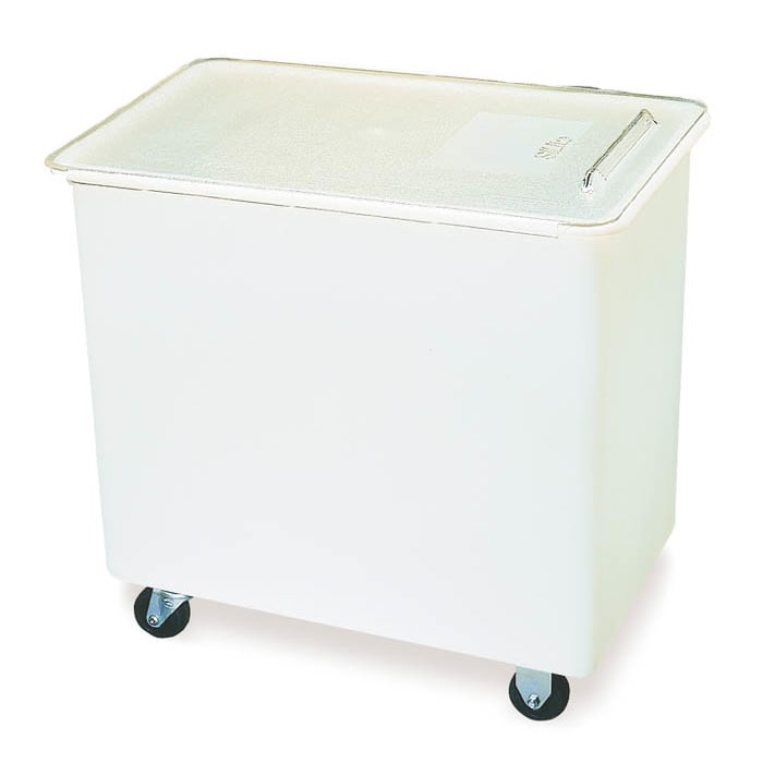 Carlisle BIN4402 44 gal Mobile Ingredient Bin - Polyethylene, Clear/White