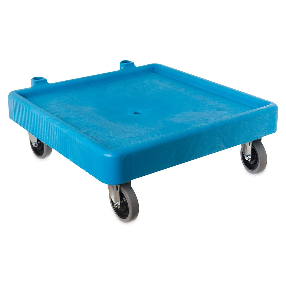Carlisle C223614 Glass Rack Dolly w/350 lb. Capacity - Blue Plastic