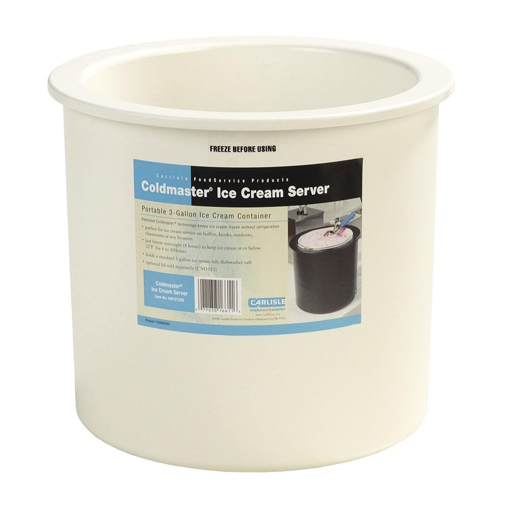 Carlisle CM101202 3 gal Ice Cream Server - Clear/White