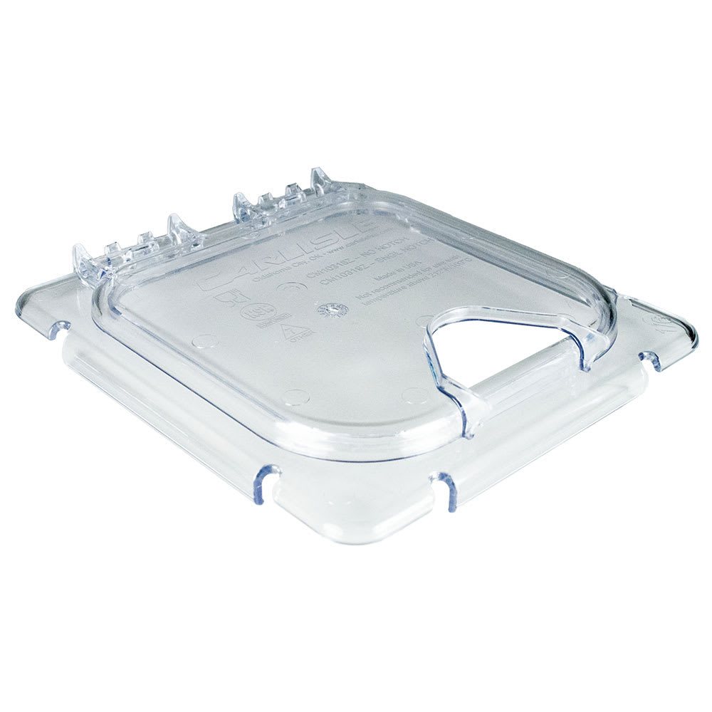 Carlisle CM10319Z07 Coldmaster® 1/6-Size EZ Access Lid, Hinged, Clear