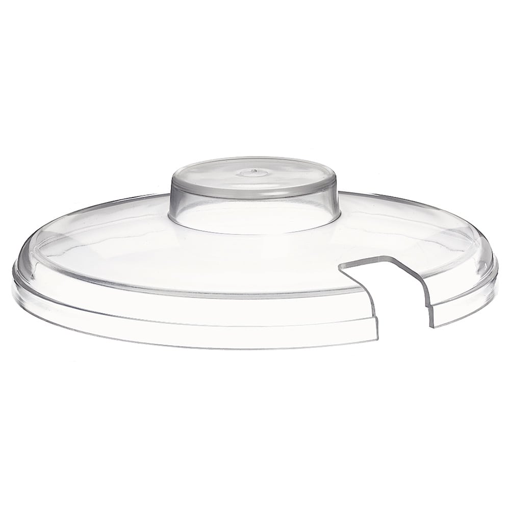 "Carlisle CM103307 6.25"" Round Slotted Crock Lid - Acrylic, Clear"