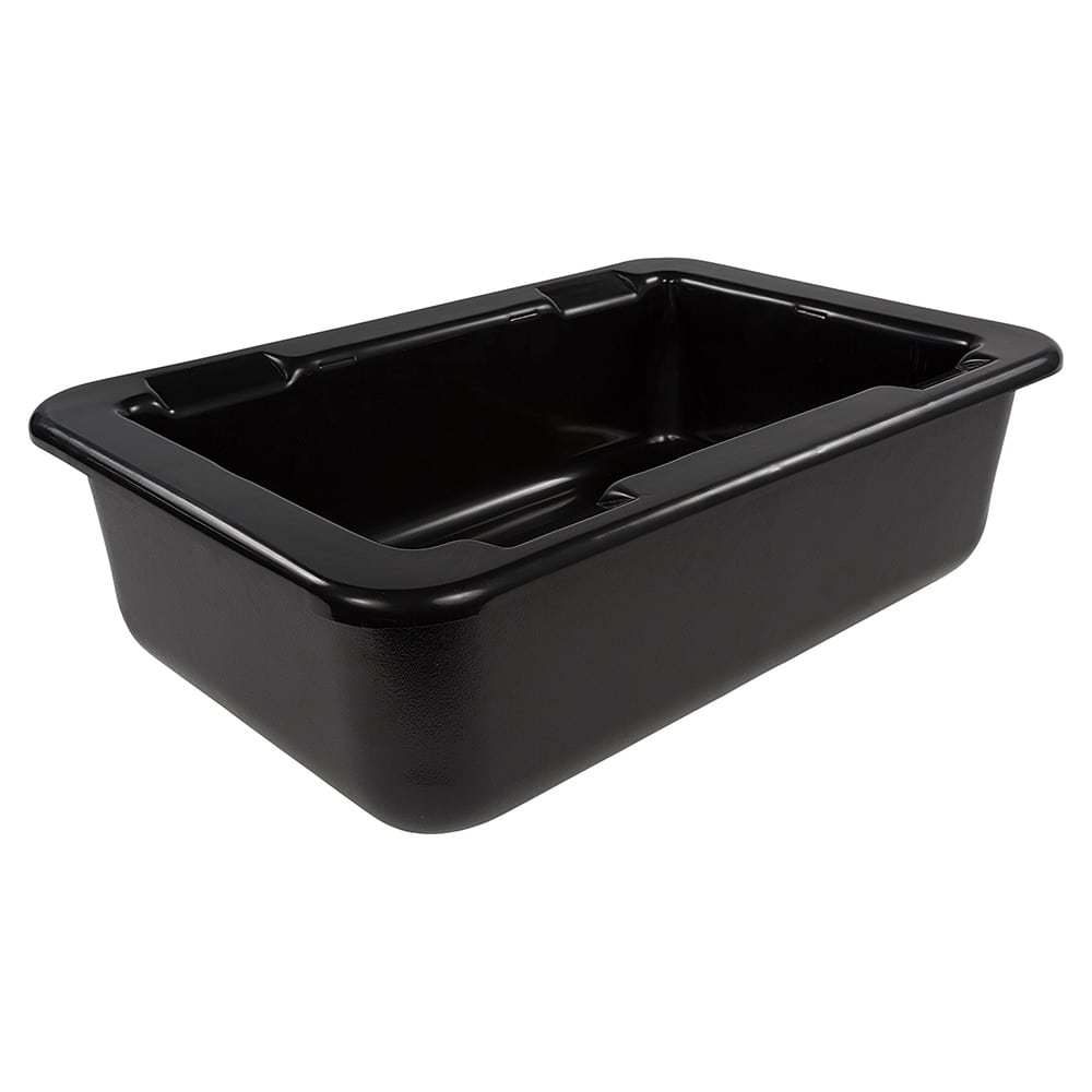 "Carlisle CM104203 Full-Size Coldpan - 6"" D, Refrigerant Gel Insulated, Black"