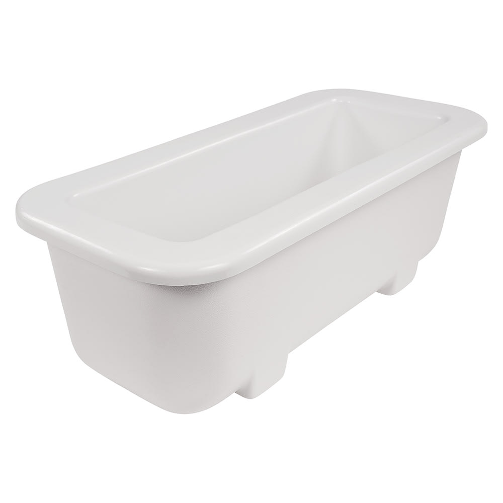 Carlisle CM104302 Half-Size Long Cold Food Pan - Plastic, White