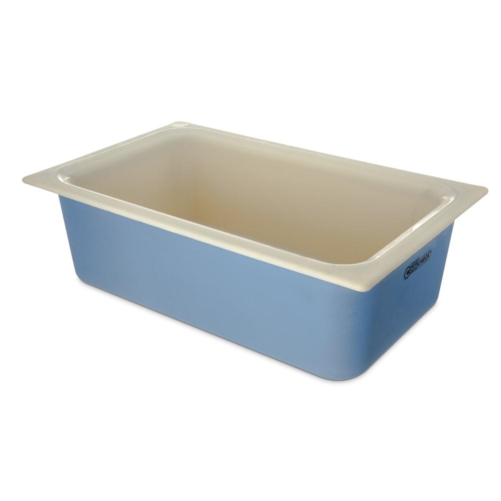 "Carlisle CM1100C1402 Full Size Coldmaster Coolcheck Food Pan, 6"" Deep, 15 qt Capacity, White/Blue"