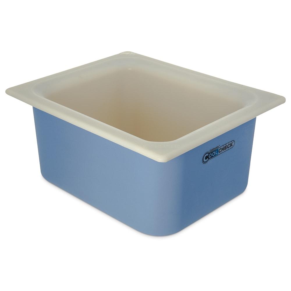 "Carlisle CM1101C1402 Half Size Coldmaster Coolcheck Food Pan, 6"" Deep, 6 qt Capacity, White/Blue"
