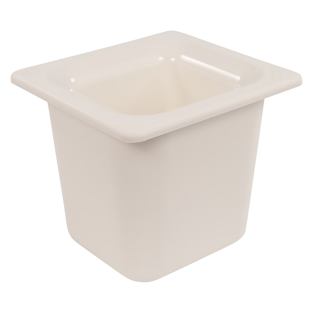 "Carlisle CM110402 Coldmaster 1/6 Size Food Pan - 6""D, White"