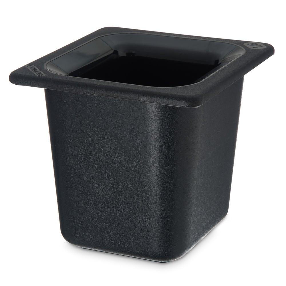 "Carlisle CM110403 Coldmaster 1/6 Size Food Pan - 6""D, Black"