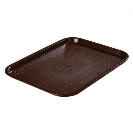 "Carlisle CT1014-8169 Rectangular Cafe Tray - (6/Pk) 13-7/8x10-3/4"" Chocolate"