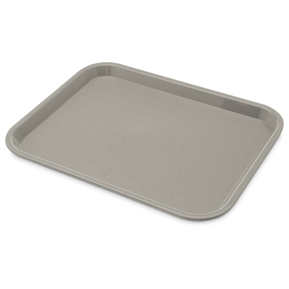 "Carlisle CT101423 Rectangular Cafeteria Tray - 13.875"" x 10.75"", Polypropylene, Gray"