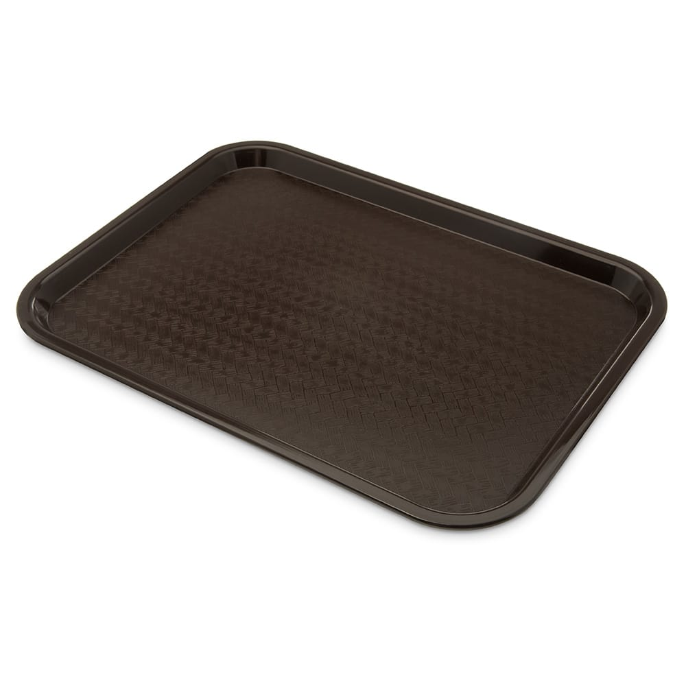 "Carlisle CT121669 Rectangular Cafeteria Tray - 16.3125"" x 12"", Chocolate"