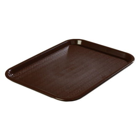 "Carlisle CT1216-81-69 Rectangular Cafe Tray - (6/Pk) 16-5/16x12"" Chocolate"
