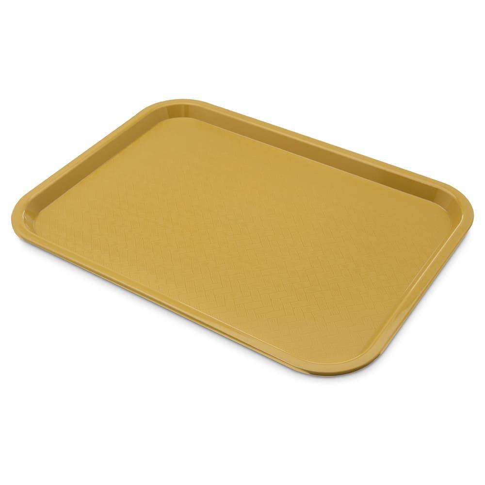 """Carlisle CT121621 Rectangular Cafeteria Tray - 16.3125"""" x 12"""", Polypropylene, Gold"""