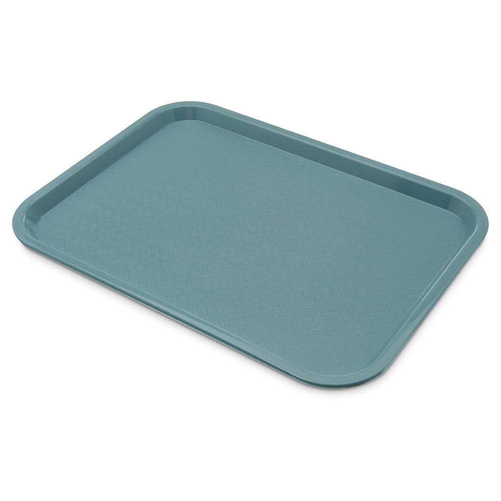 "Carlisle CT121659 Rectangular Cafeteria Tray - 16.3125"" x 12"", Polypropylene, Slate Blue"