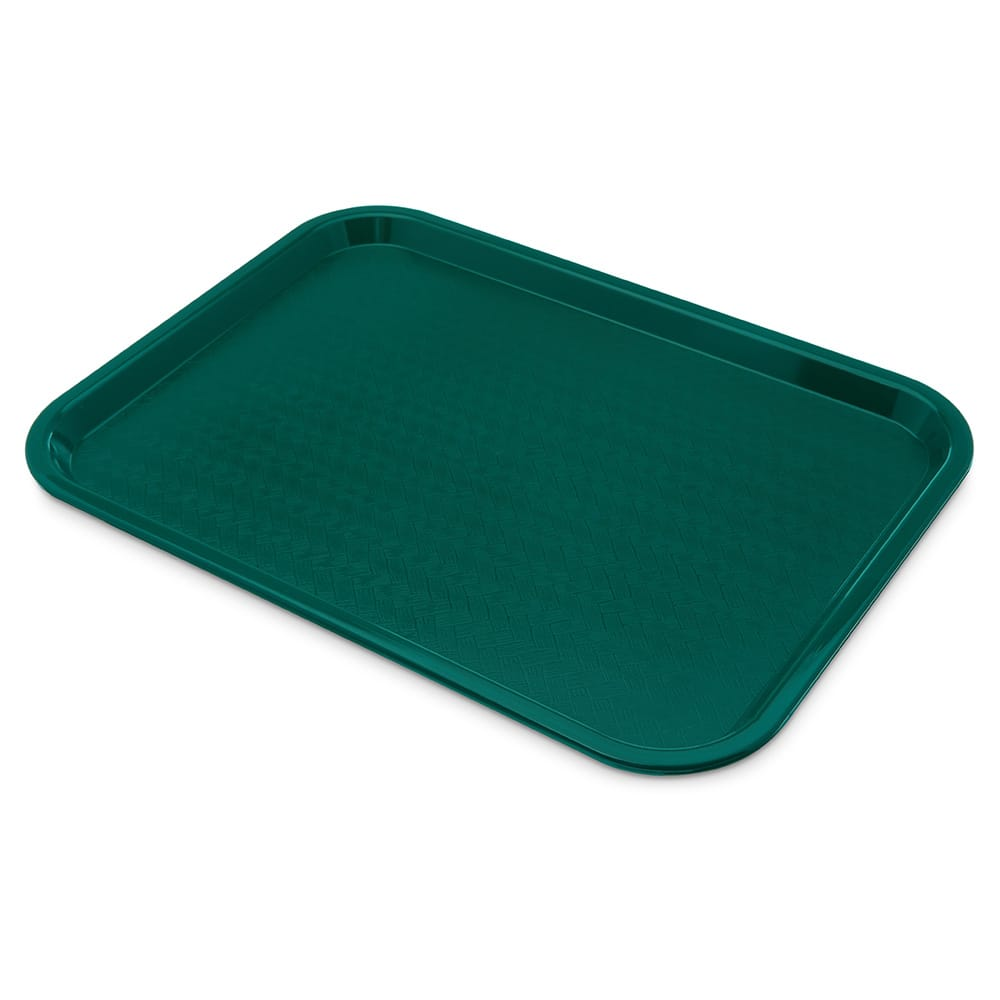 "Carlisle CT121615 Plastic Cafeteria Tray -  16.3""L x 12""W, Teal"