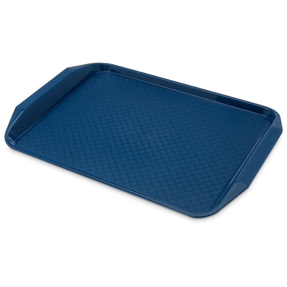 "Carlisle CT121714 Rectangular Cafe Tray - 17"" x 12"", Polypropylene, Blue"
