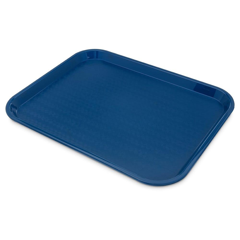"Carlisle CT141814 Rectangular Cafe Tray - 17.875"" x14"", Polypropylene, Blue"