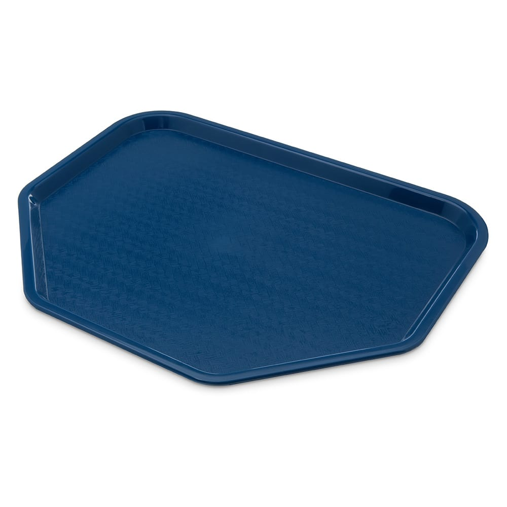 "Carlisle CT1713TR14 Trapezoid Cafe Tray - 18"" x 14"", Polypropylene, Blue"